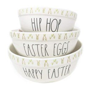 Easter Rae Dunn By Magenta 3 Piece Bowls